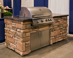 Brick Outdoor Kitchen in Ohio from Round Grove Products