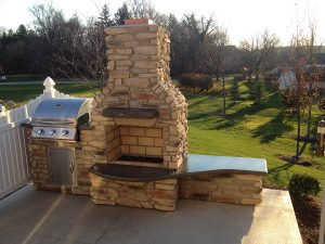 Brick Oven with Chimney - Custom outdoor fireplace - Outdoor kitchen inspiration