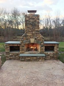 Outdoor kitchen inspiration - outdoor fireplace kit