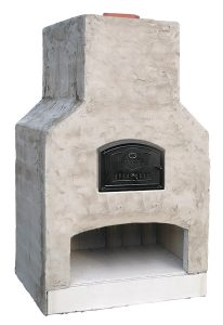 fireplace and pizza oven combo