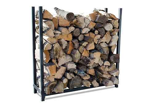 Outdoor Fireplace Log Rack from Round Grove Products