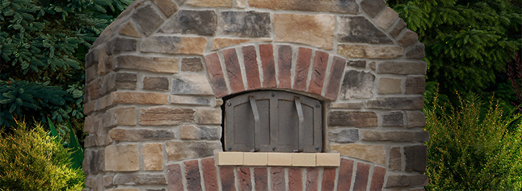 Outdoor Brick Pizza Oven, Round Grove Products