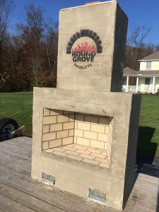 outdoor brick fireplaces