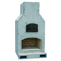 "Fiesta Mezzo - Best selling size! - Firebox: 40""x24X - Oven Dimensions: 37""x25"" - Overall Dimensions: 55""W x 42""D x 88""H"