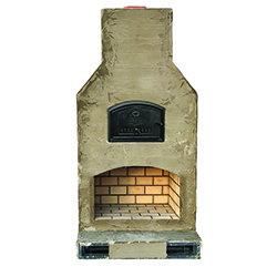 "Kiva Mezzo - Best selling size! - Firebox: 40""x24"" - Oven Dimensions: 18""x24"" - Overall Dimensions: 55""W x 28""D x 108""H"