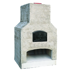 "Largo - Perfect for larger scale entertaining spaces - Oven Dimensions: 45""x28"" Overall Dimensions: 63""W x 38""D x 96""H"