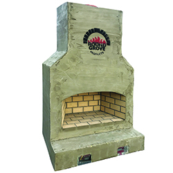"Largo - Perfect for larger scale entertaining spaces - Firebox: 48""x24"" Overall Dimensions: 63""W x 29""D x 88""H"
