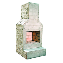 "Mini - Perfect for narrow clearances - Firebox: 26""x19"" - Overall Dimensions: 36""W x 29""D x 88""H"