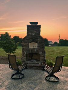brick oven and outdoor fireplace combo unit near kidron ohio