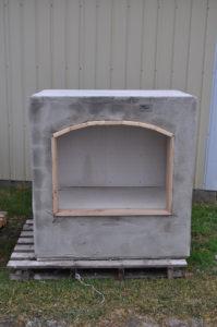 outdoor brick fireplace wood box near kidron ohio