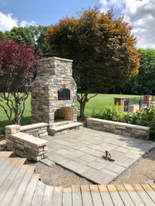 fireplace and brick oven for outdoor