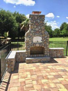 brick oven and fireplace near medina ohio