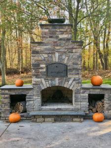 backyard brick oven and fireplace near medina ohio