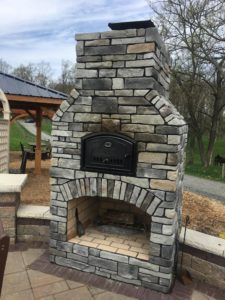 Outdoor Brick Oven Fireplace Pizza Oven, Round Grove Products