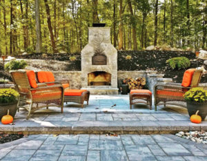 outdoor brick oven fireplace combo unti