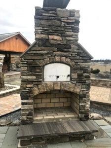 brick outdoor fireplace - Outdoor kitchen inspiration