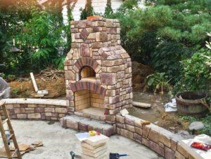 outdoor fireplance brick oven combo unit dover ohio