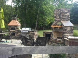 Outdoor Brick Oven Kitchen, Round Grove Products