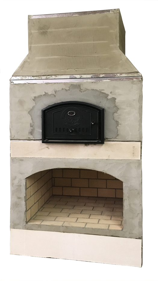 Assembled Brick Oven with Fireplace from Brick Oven Lifestyle