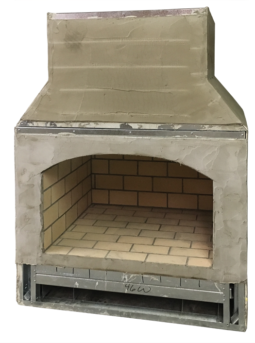 fireplace and chimney kit for outdoor brick fireplaces from Round Grove Products