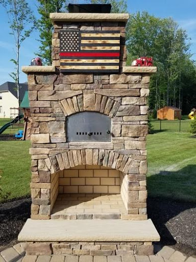 brick oven outdoor fireplace combo unut