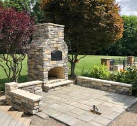 Outdoor brick ovens fireplace, Round Grove Products