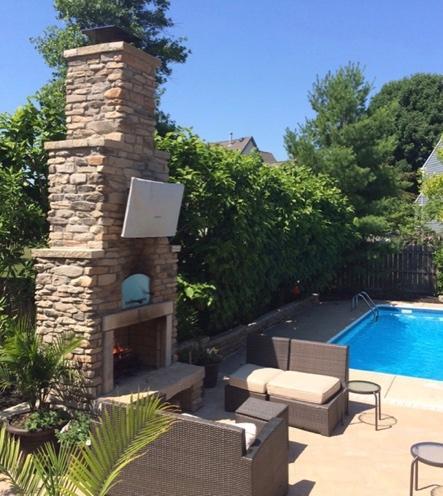Outdoor Living Space Design - outdoor backyard entertaining