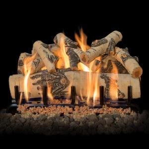 brick fireplace gas logs