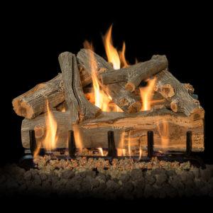 outdoor fireplace gas log set