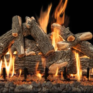 gas burning outdoor fireplace logs