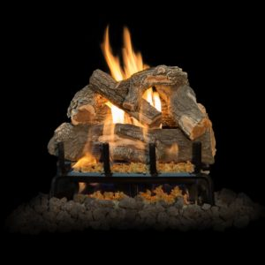 gas burning fireplace logs for outside