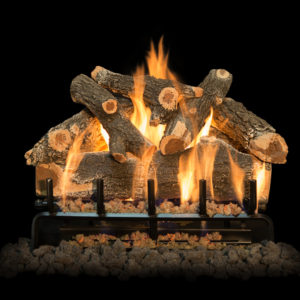 outdoor gas burning logs