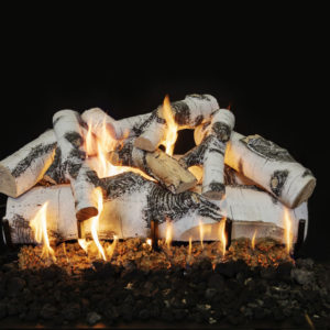 outdoor gas fireplace logs