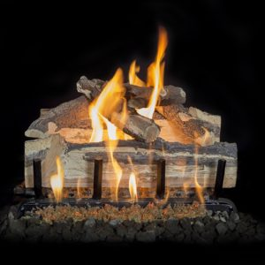 backyard gas fireplace