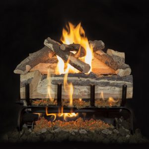 outdoor brick fireplace logs