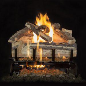 backyard brick fireplace
