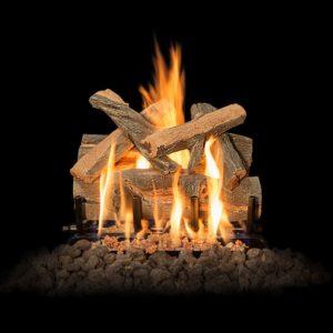 outdoor brick fireplace gas logs