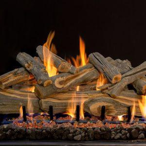 outdoor fireplace log set