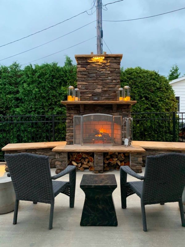 Outdoor Fireplaces | Round Grove Products | Custom ...